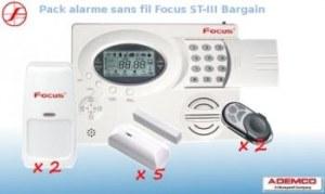 Alarme maison sans fil FOCUS ST-III Bargain
