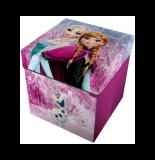 Pouf 2 en 1 - la reine des neiges - 33 x 33 cm - rose