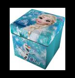 Pouf 2 en 1 - la reine des neiges - 33 x 33 cm - bleu