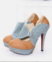 Chaussures à talons boucles Bleu clair