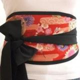 Ceinture japonaise style obi réversible