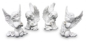 Lot de 4 Anges