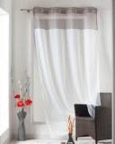 Panneau Voilage bicolore BLANC / GRIS 1 X 140 X 240 cm