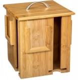 Boîte à thé x 4 - rotative - bambou