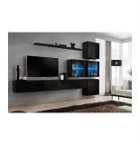 Ensemble tv - 8 éléments - noir