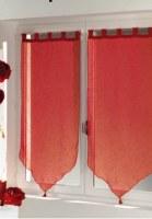 Paire Voilage Luminéa BRIQUE 60 X 120 cm