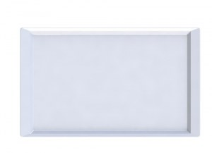(DESTOCKAGE) Carton de 24 - Assiette rectangle QUADRA 28 cm