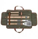 Set de 4 ustensiles pour barbecue avec sac de rangement