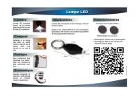 Destockage 500 lampes LED porte clés