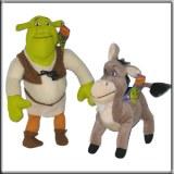 Lot de 2 Peluches Shrek et l'Ane