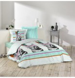 Parure de lit 2 personnes indian cat - 240 x 220 cm - coton
