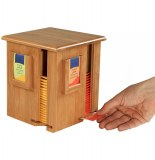 Distributeur de sachets de thé rotatif - 4 compartiments - bambou