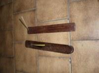 Porte encens bois