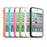 Coque Bumper TPU iPhone4/4S + Bouton Alu