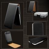 Etui En Cuir Pour Iphone 4 - Noir + Protège Ecran Offert