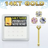 Grossiste Piercing Gold Piercing Nez Tige Droite