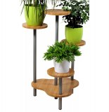 Support multiple pour 4 plantes - hauteur 75 cm - façon bambou