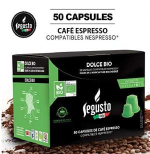 """Boite de 50Capsules """"Bio"""" de café compatibles Nespresso - Saveur Dolce Bio"""