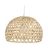 Lampe suspension en bambou - yazu - 25 x 38 cm - bambou, acier et pvc