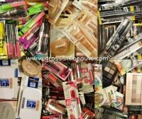 Destockage Arrivage Lot de maquillages de marque Blister 500 pièces