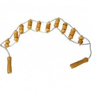Lanière de massage en bois - 97 cm - bois