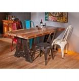 Table de séjour amar - 90 x 180 x 76 cm - bois