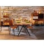 Table celbridge - 175 x 90 x 76 cm - bois et métal