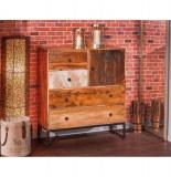 Commode segall - 42 x 100 x 110 cm - bois et métal