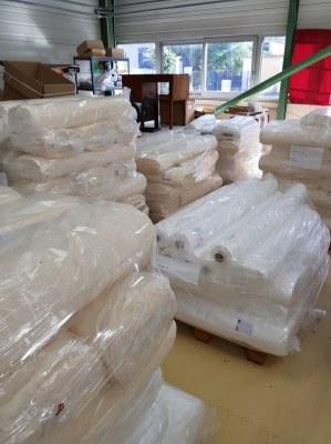 Tissu Organza, voile, nappage, 3 mètres de large