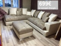 DIRECT GROSSISTE CANAPE D'ANGLE LOANA AVEC SES COUSSINS