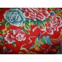 Tissu coton chinois asiatique classique rouge 80cm