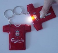 Objet Promotionel : Porte Cle LED Maillot de Foot
