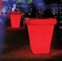 Grand pot carré Lumineux RADIEUX