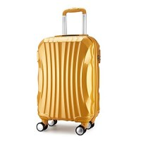Valise rigide 68cm or ultra leger ABS 4 roues multidirectionnelles shine PARTY PRINCE