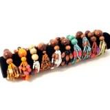 Lot de 10 bracelets perles en bois