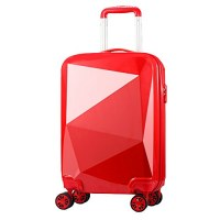 Valise rigide 68cm rouge ultra leger 4 roues multidirectionnelles brillant fashion PART...