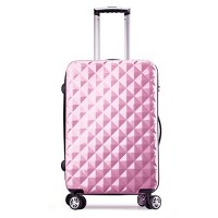 Valise Taille Cabine rose ultra leger PC 4 roues PARTY PRINCE