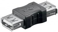 Adaptateur USB 2.0 femelle A-Femme A Noir à permettre l'interconnexion de la plupart USB