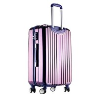 Valise Taille Cabine rigide 57cm violet ultra leger ABS+PC 4 roues PARTY PRINCE