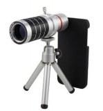 16X Zoom Telephoto Lens w/ Tripod Mount avec Back Case pour iPhone 5/5s