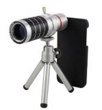 16X Zoom Telephoto Lens w/ Tripod Mount avec Back Case pour iPhone 5/5s