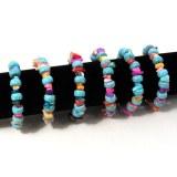 Lot de 6 bracelets perles turquoise