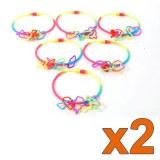 Lot de 12 bracelets phosphorescents
