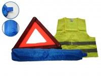 Kit de sécurité (triangles + gilets + housses)