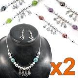 Lot de 12 parures perles et pampilles