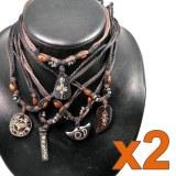 Lot de 10 colliers tribal
