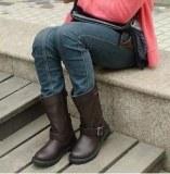 Boots à boucles Brun