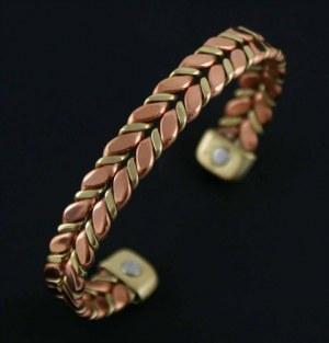 X3 Bracelets Magnetique en Cuivre Deux Tons 4,95€