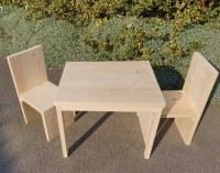 Table et chaises enfant en bois naturel