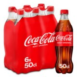 Soda COCA-COLA le pack de 6 bouteilles de 50 cL